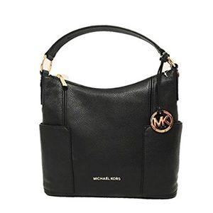 Michael Kors Anita Black Lg Conv Shldr Leather